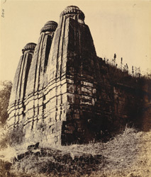 Rear view of the triple-towered Shiva Temple, Armori, Chandrapur District